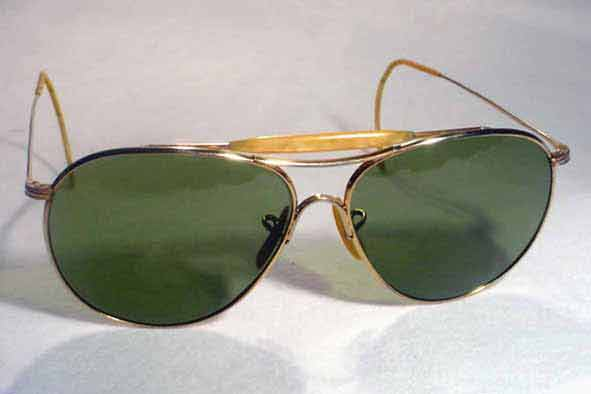vintage sunglasses : 1940's US military issue aviators by AMERICAN OPTICAL