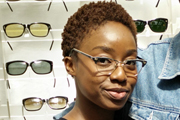 vintage eyewear: 1950s white gold filled frame by AMERICAN OPTICAL USA