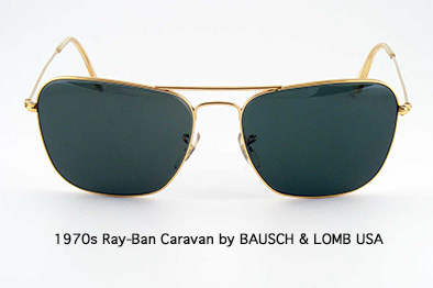1970s Ray-Ban Caravan by 			BAUSCH & LOMB USA